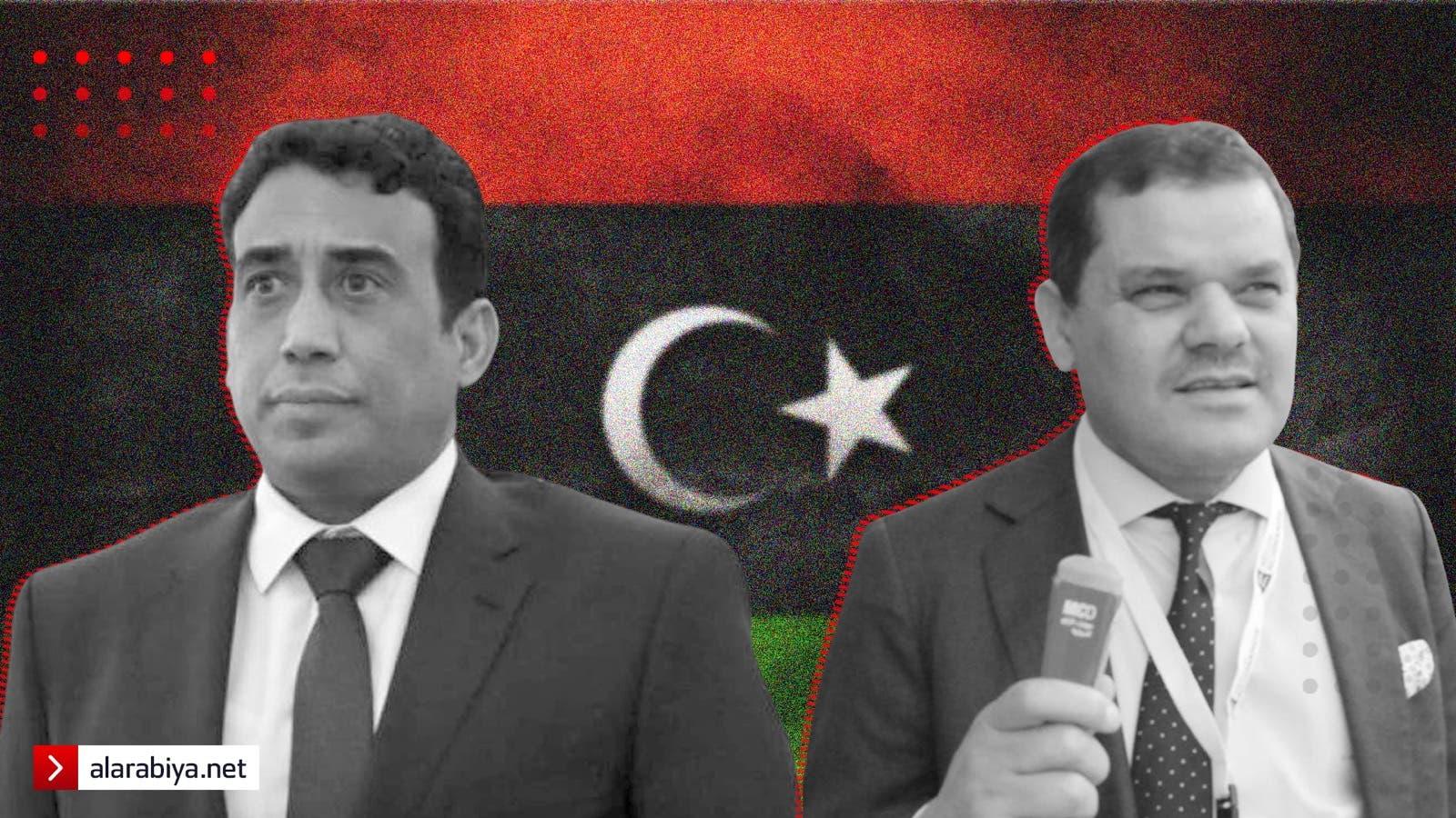 عبد الحميد الدبيبة ومحمد المنفي - السلطة الليبية خاص العربية نت