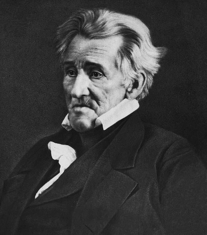 صورة فوتوغرافية التقطت سنة 1845 لأندرو جاكسون