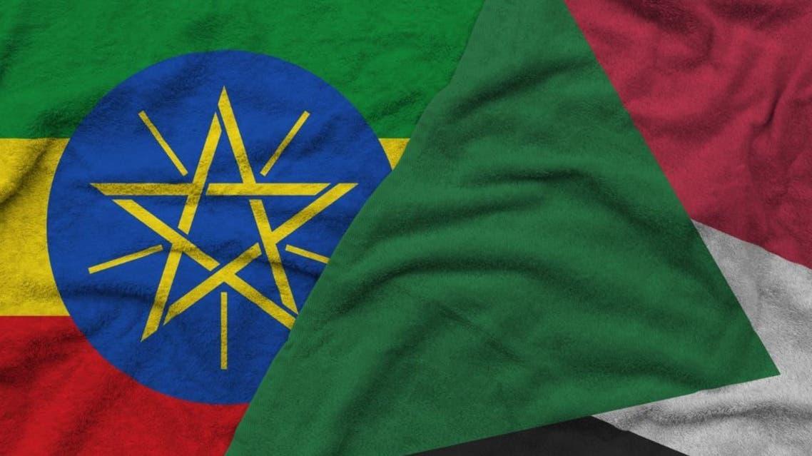 السودان أثيوبيا أعلام