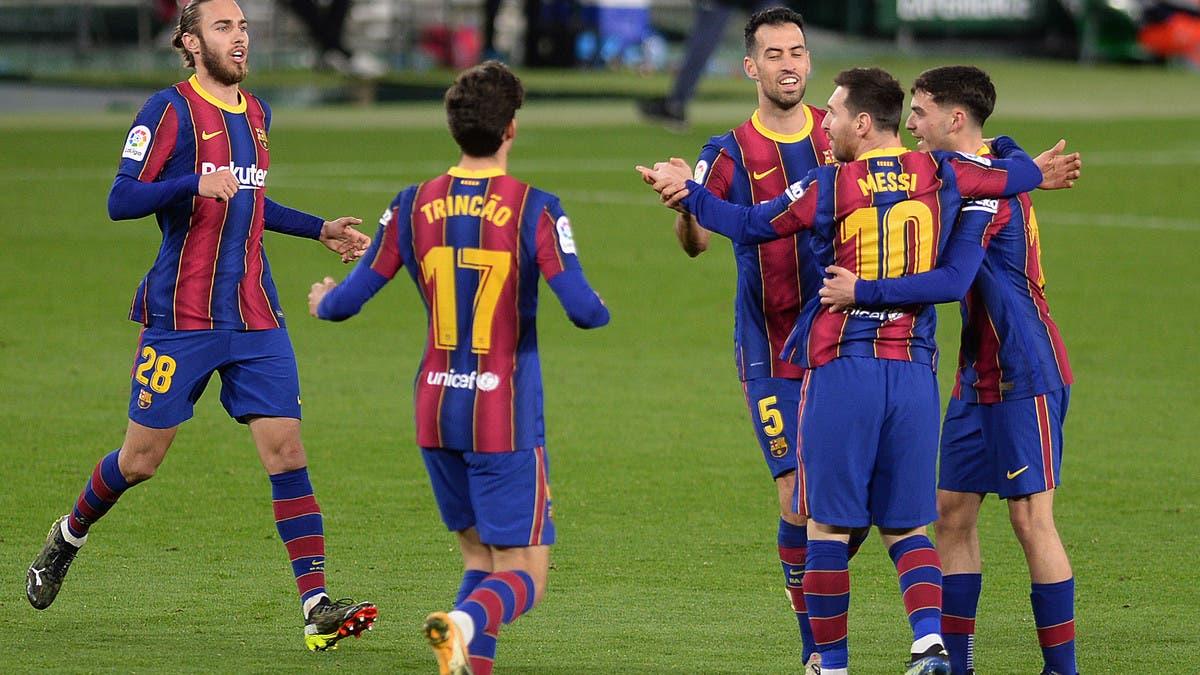 ترينكاو يخرج برشلونة من مأزق بيتيس