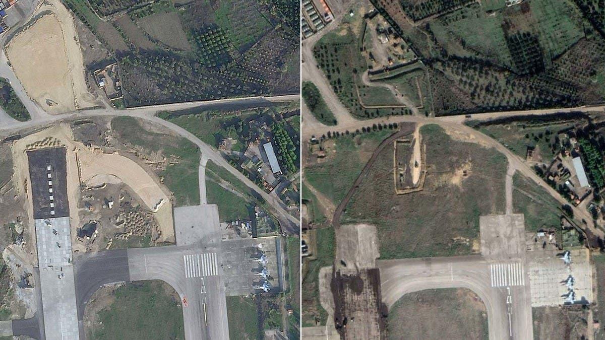 """بالصور.. موسكو تحول """"حميميم"""" السورية لنقطة انطلاق """"حربية"""" بالمنطقة"""