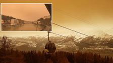 صحرائے عرب سے اٹھنے والی غبار آلود ہوائوں سے یورپ میں ریت کی بارش