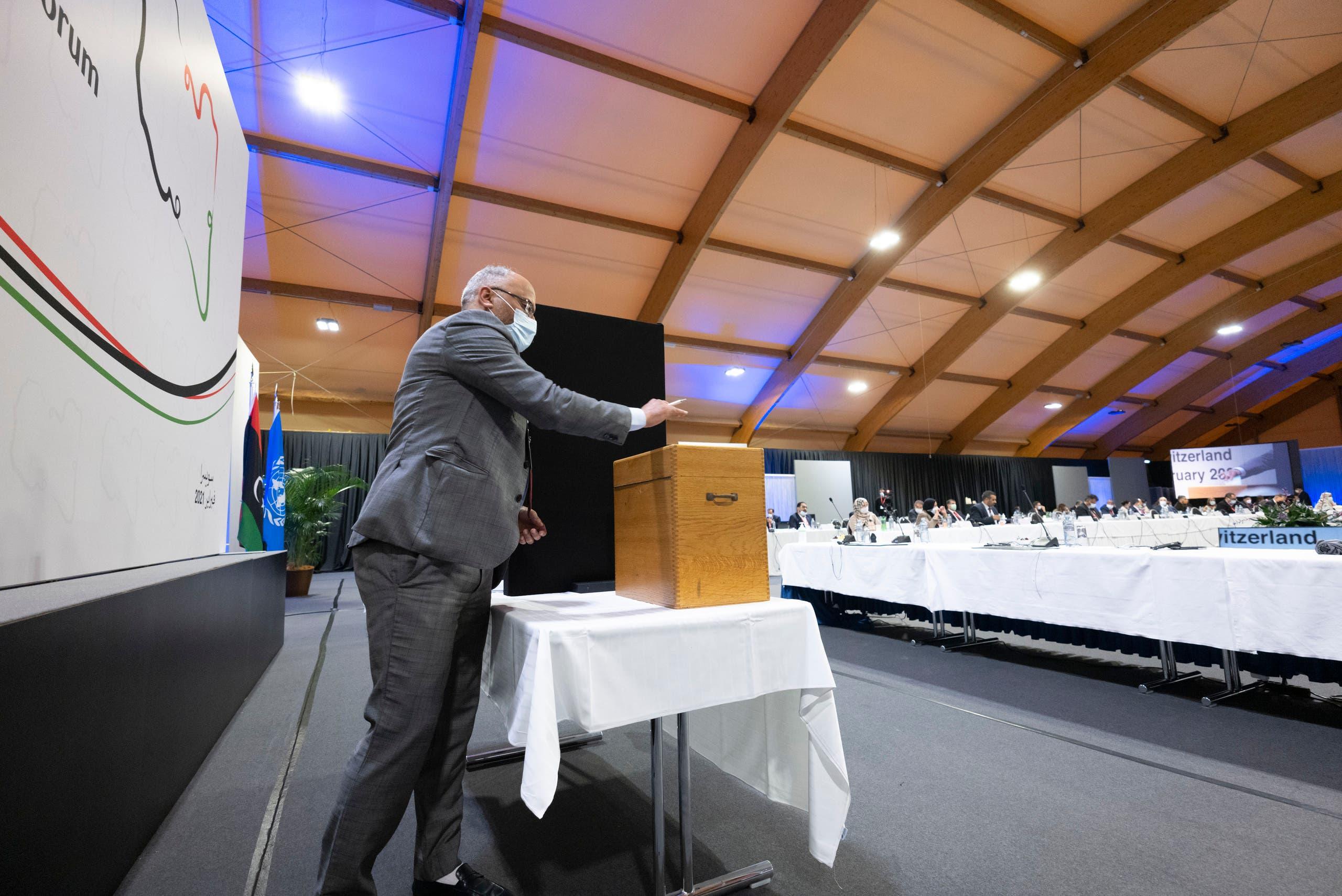 من التصويت على المناصب السيادية في منتدى الحوار الليبي في جنيف