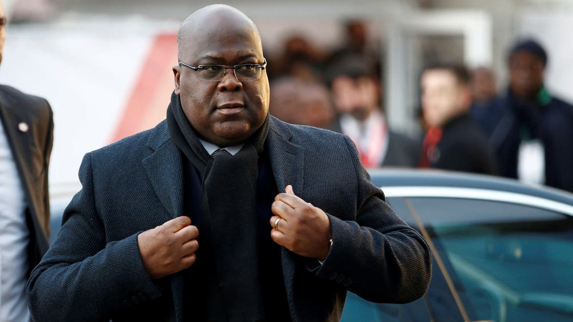 FILE PHOTO: Democratic Republic of Congo President Felix Tshisekedi arrives at the UK-Africa Investment Summit in London, Britain, January 20, 2020. REUTERS/Henry Nicholls/File Photo