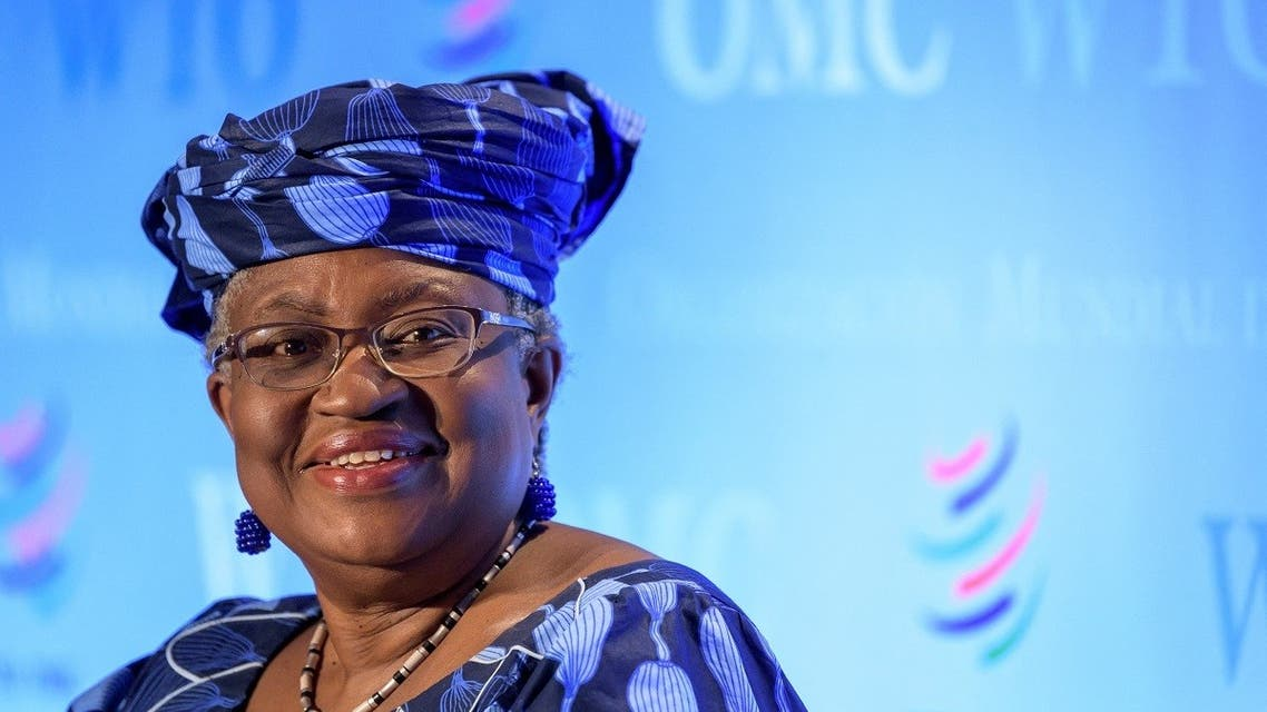 A picture taken on July 15, 2020, in Geneva shows Nigerian former Foreign and Finance Minister Ngozi Okonjo-Iweala smiling during a hearing before World Trade Organization 164 member states' representatives, as part of the application process to head the WTO as Director General. (Fabrice Coffrini/AFP)