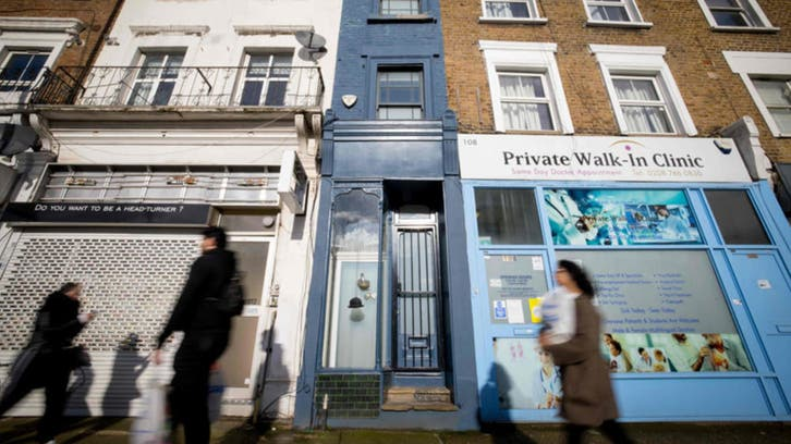 بأكثر من مليون يورو.. أضيق منزل في لندن معروض للبيع