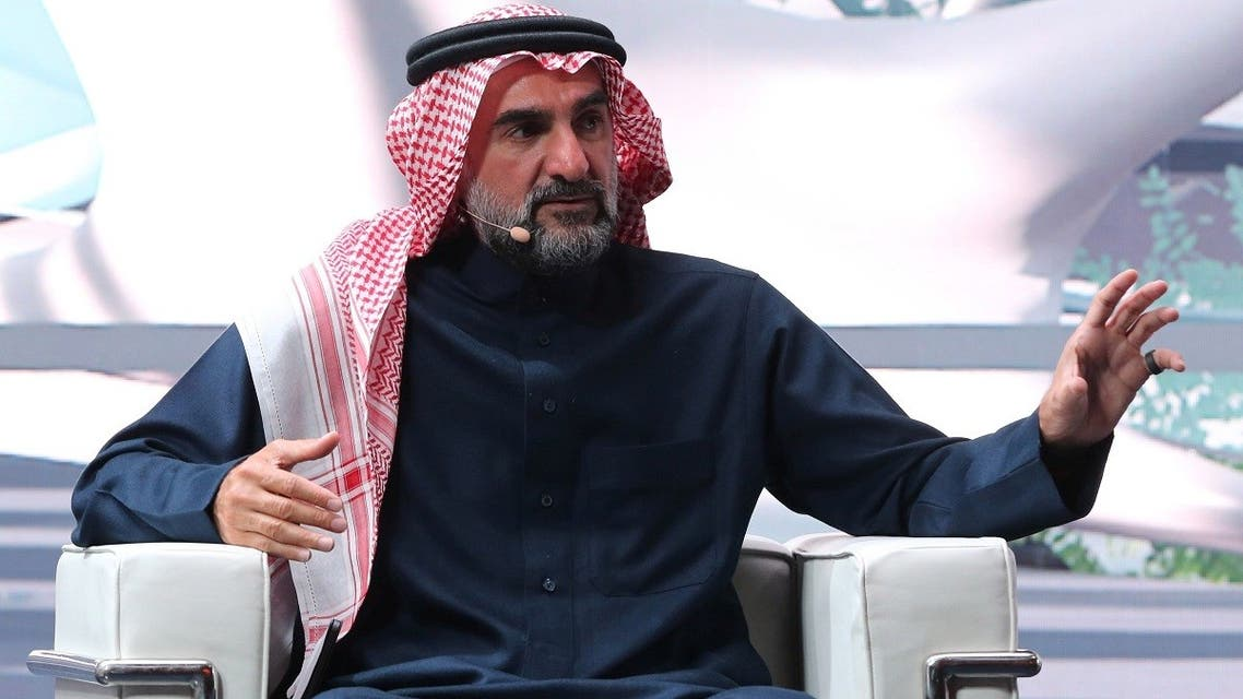 Yasir Othman Al-Rumayyan, Governor of the Saudi Public Investment Fund,  speaks during the fourth annual Future Investment Initiative in Riyadh, Saudi Arabia, on January 27, 2021. (Reuters)