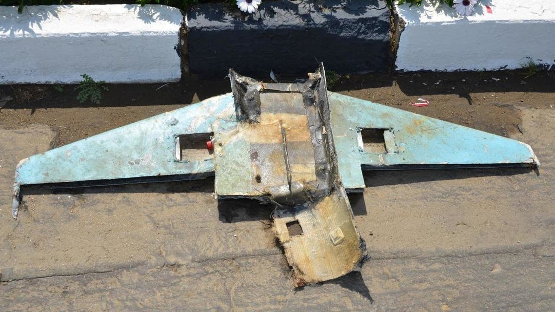 A photo of the remains of the wreckage of one of the drones that targeted Saudi Arabia's Abha airport. (Supplied)