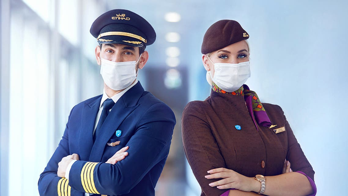 Abu Dhabi-based Etihad Airways is only operating flights with pilots and cabin crew who have been vaccinated. (Via @etihad Twitter)