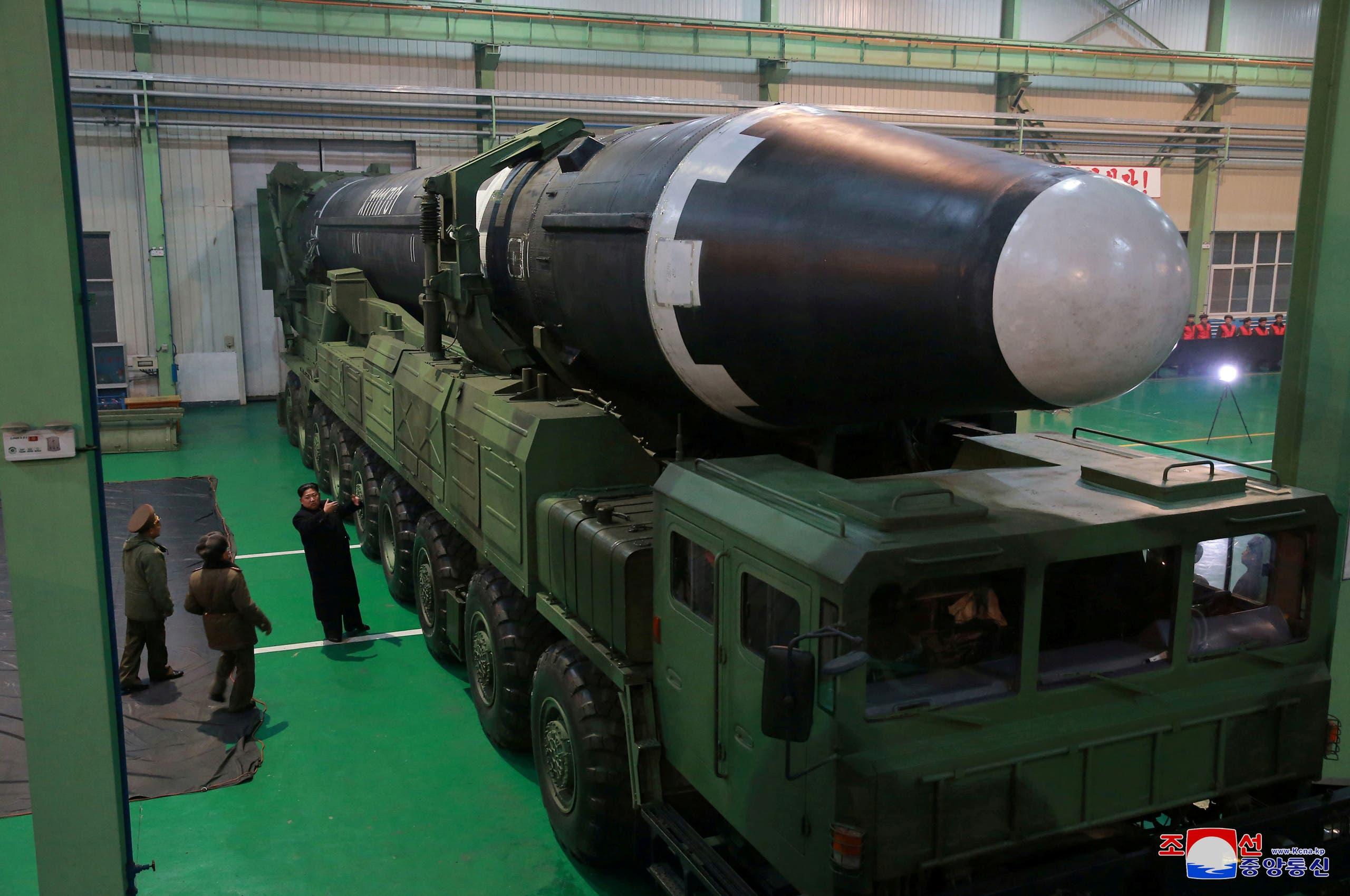 Hwasong-15  صاروخ باليستي عابر للقارات (أرشيفية)