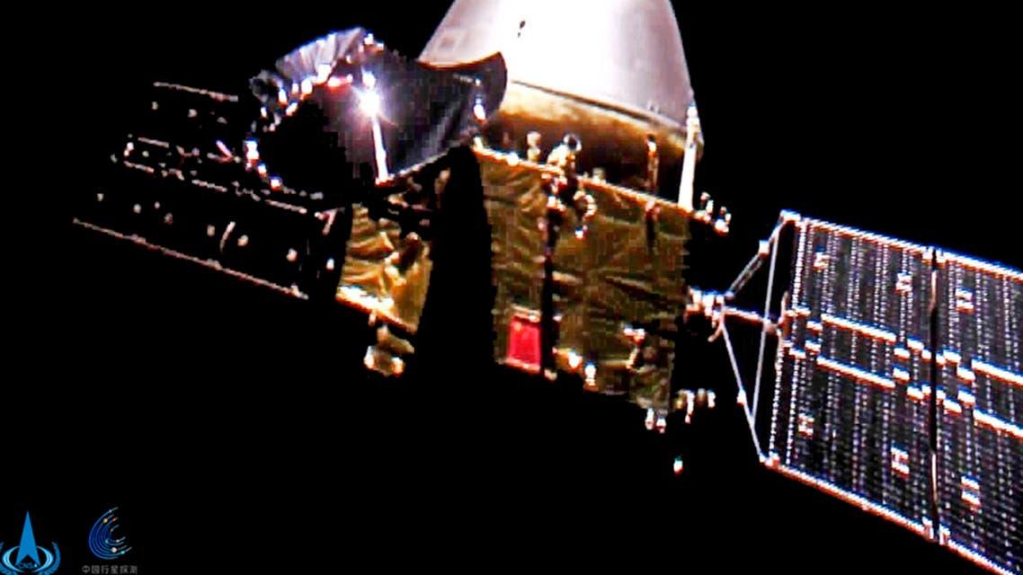 The Tianwen-1 probe en route to Mars. (CNSA via AP)