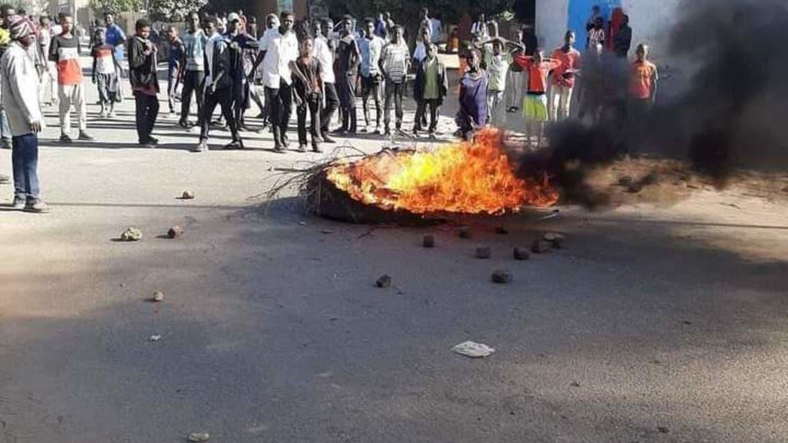 احتجاجات  مدنية الضعين بولاية شرق دارفور غربي السودا