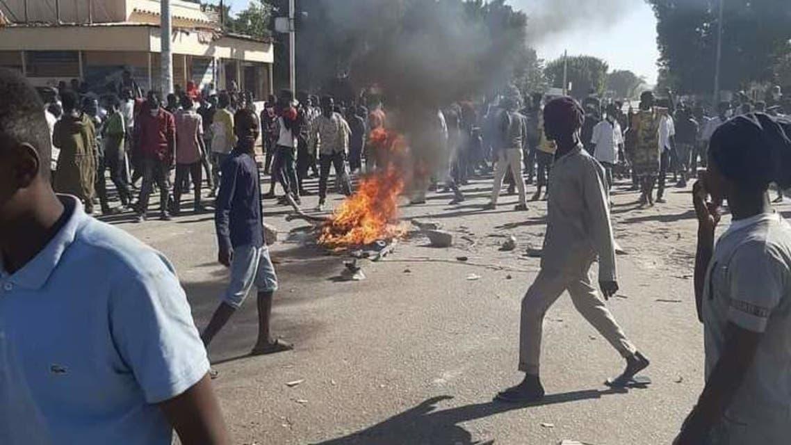 احتجاجات مدنية الضعين بولاية شرق دارفور غربي السودان