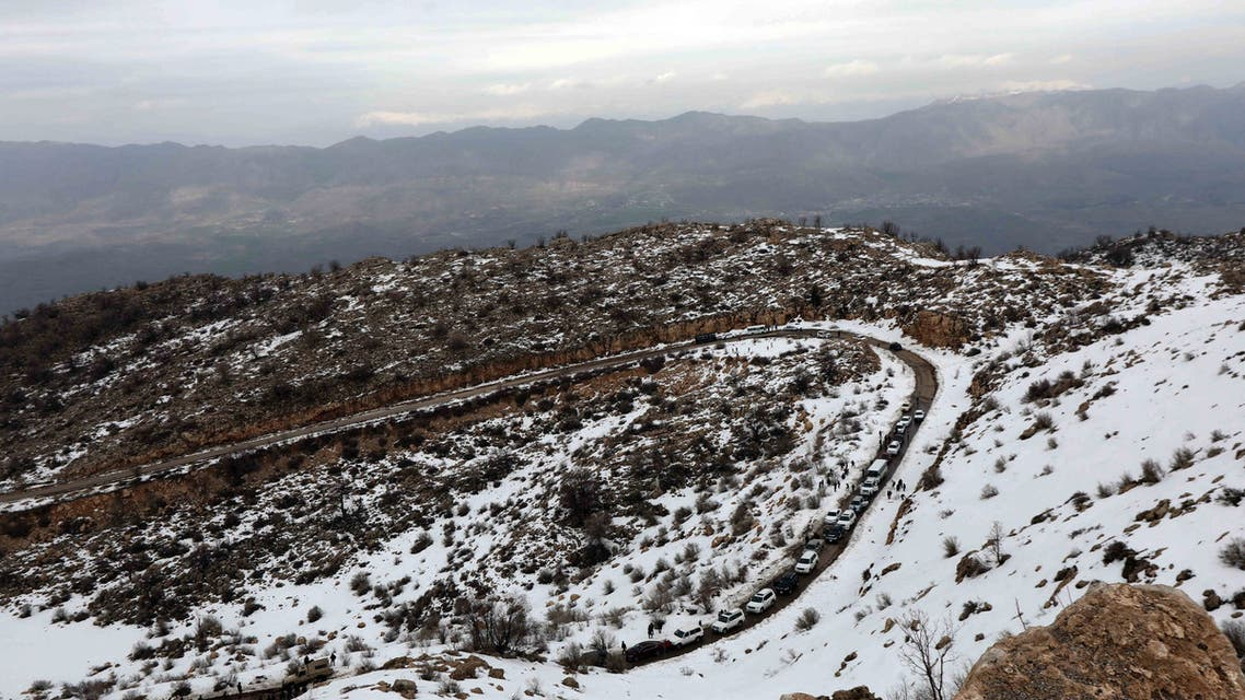 A general view of the Gara Mountain near the northern Iraqi city of Dohuk. (AFP)