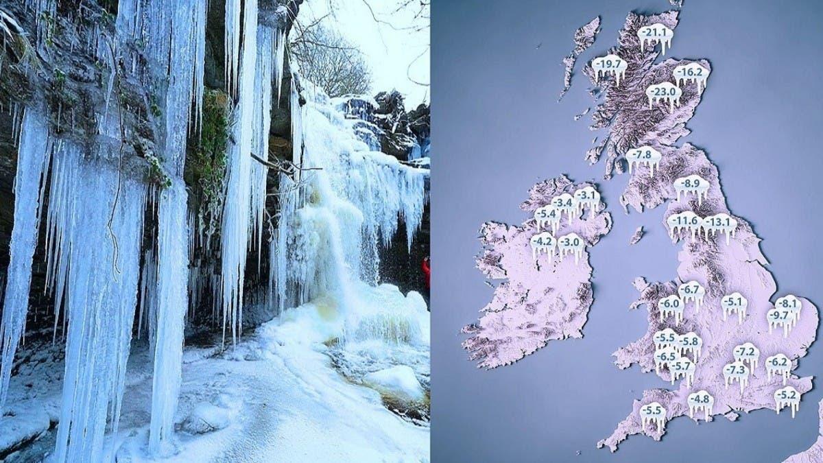 طقس جليدي يجتاح بريطانيا والحرارة 23 تحت الصفر