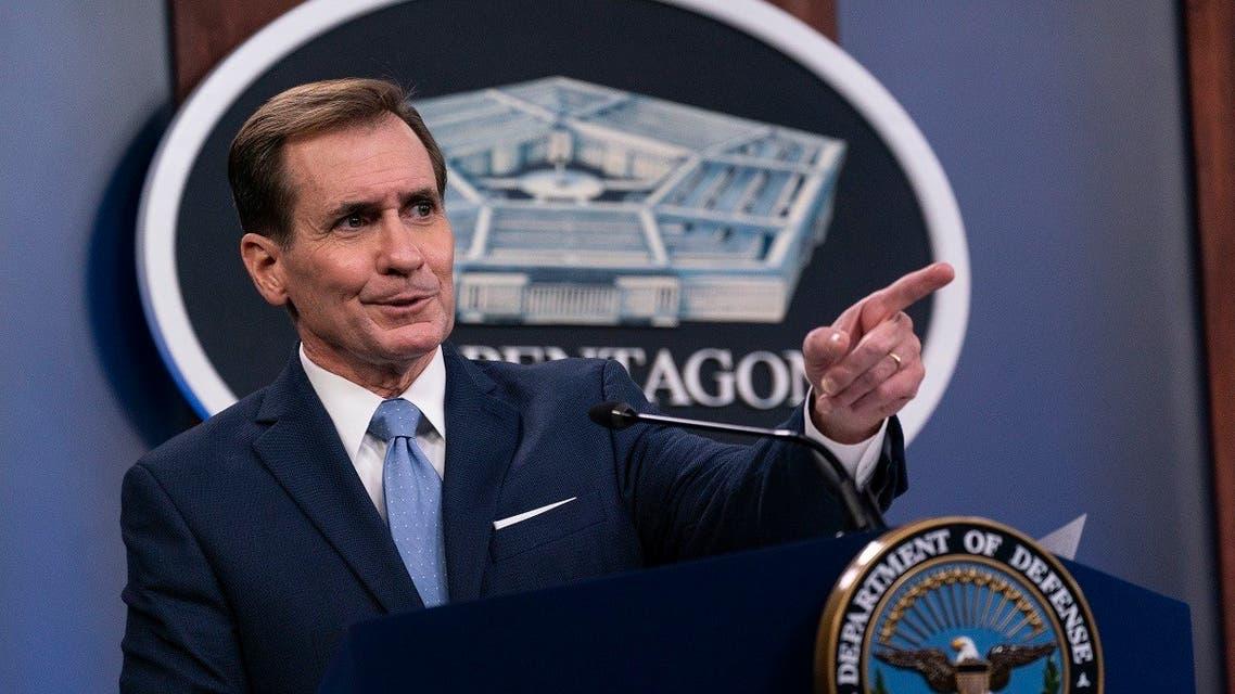 Pentagon spokesman John Kirby speaks during a media briefing,  Jan. 28, 2021. (AP)