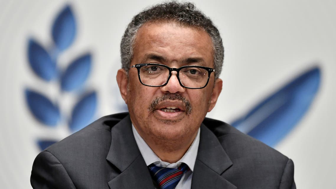 World Health Organization (WHO) Director-General Tedros Adhanom Ghebreyesus attends a news conference organized by Geneva Association of United Nations Correspondents (ACANU) amid the COVID-19 outbreak, caused by the novel coronavirus, at the WHO headquarters in Geneva Switzerland July 3, 2020. (Reuters)