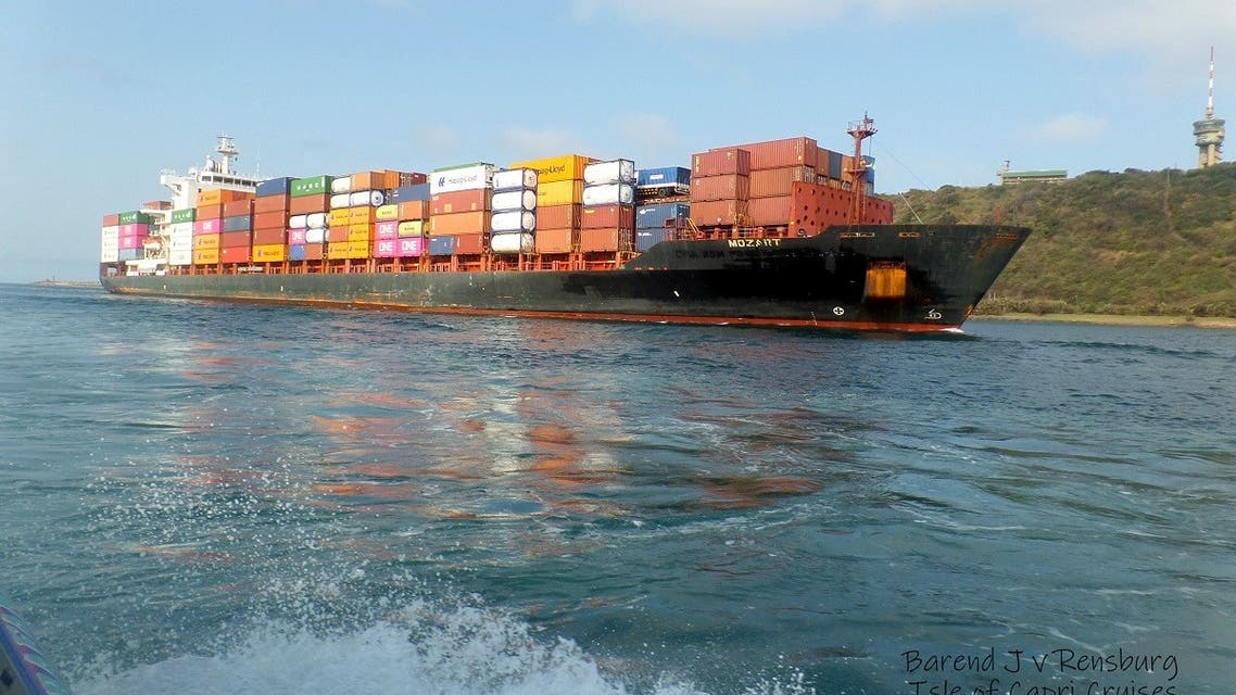 The MV Mozart container ship is seen near Durban, South Africa. (File photo: Reuters)