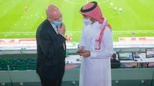 عبدالعزيز الفيصل يجتمع برئيس الأولمبية القطرية.. ويلتقي إنفانتينو