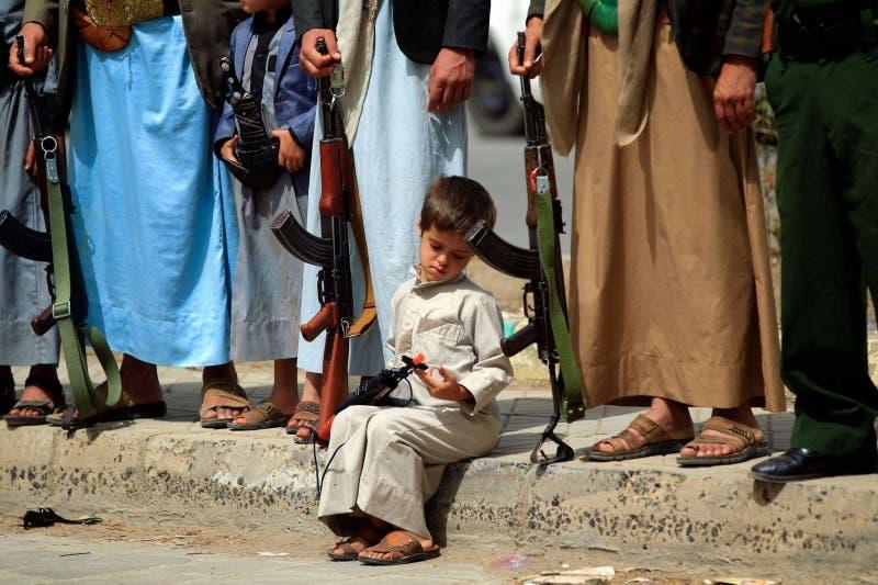 تجنيد أطفال اليمن
