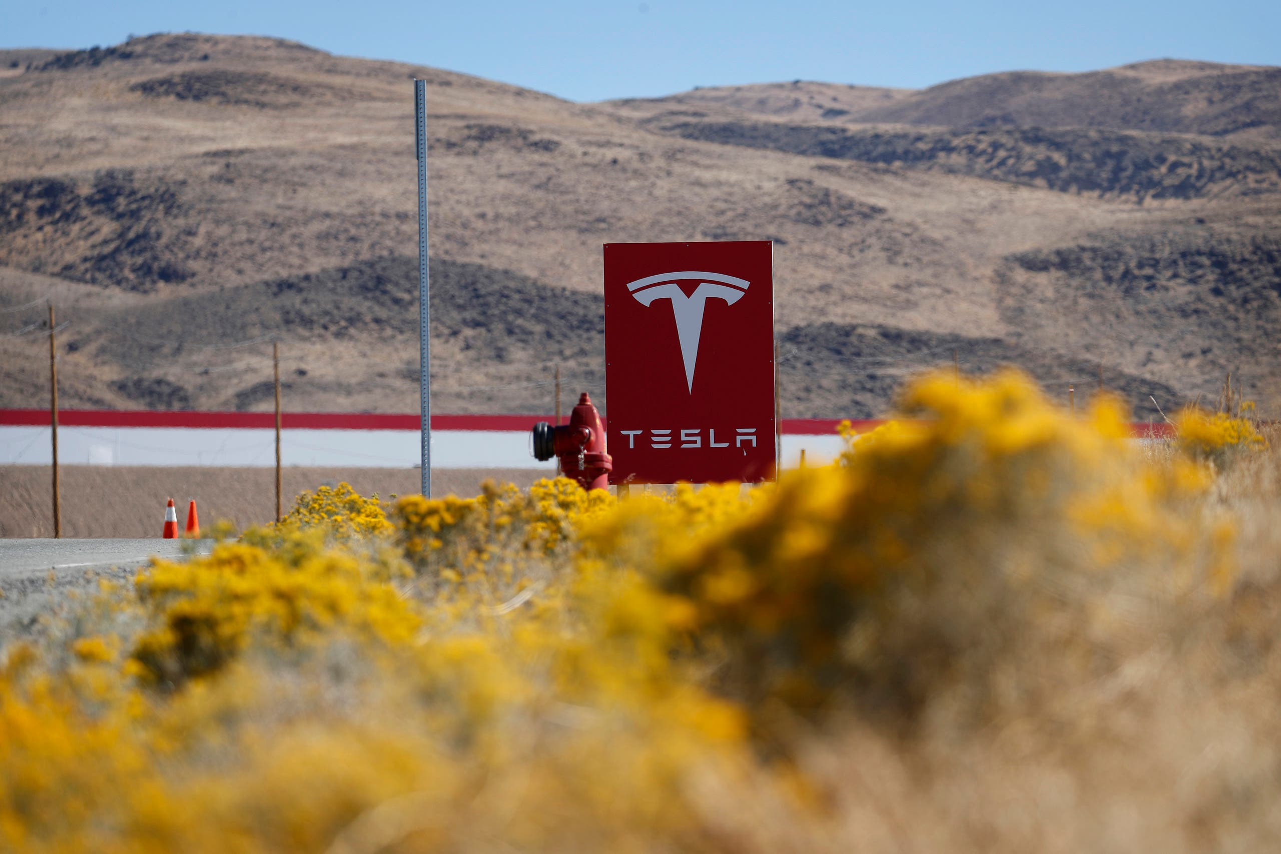 File photo of the Tesla Gigafactory in Sparks, Nevada. (AP)