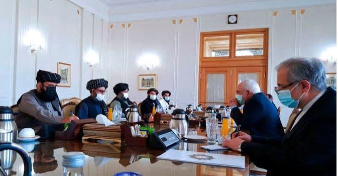 ظريف مستقبلا قادة طالبان - أرشيفية