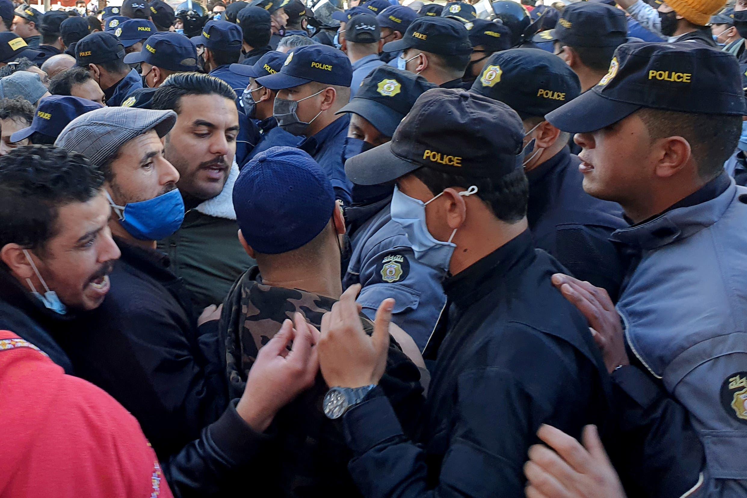 من احتجاجات تونس يوم 19 يناير