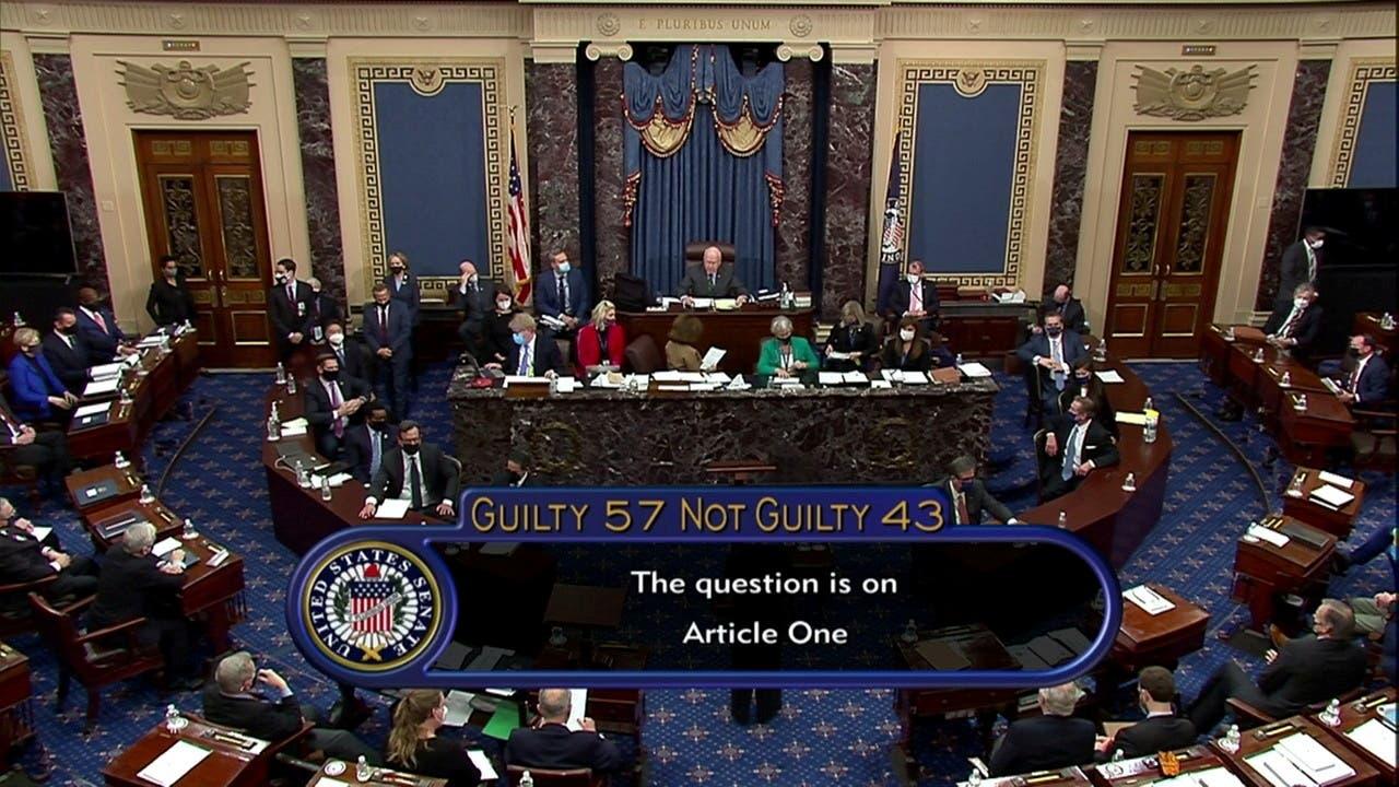 من جلسة التصويت في مجلس الشيوخ