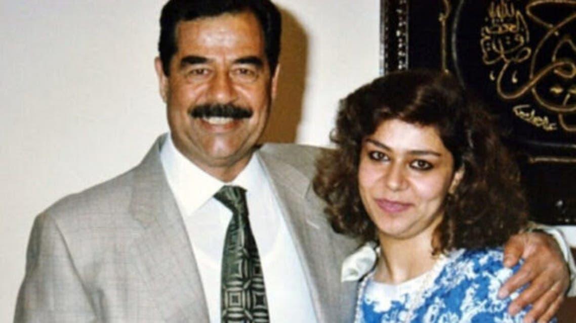 رغد مع والدها صدام حسين