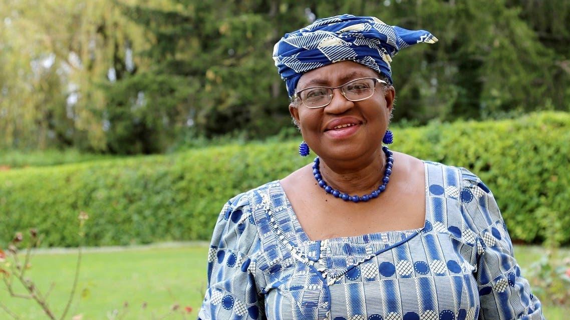 Ngozi Okonjo-Iweala poses outside a Nigerian diplomatic residence in Chambesy, near Geneva, Switzerland. (Reuters)