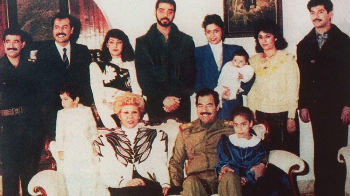 عائلة رغد صدام حسين في 1995