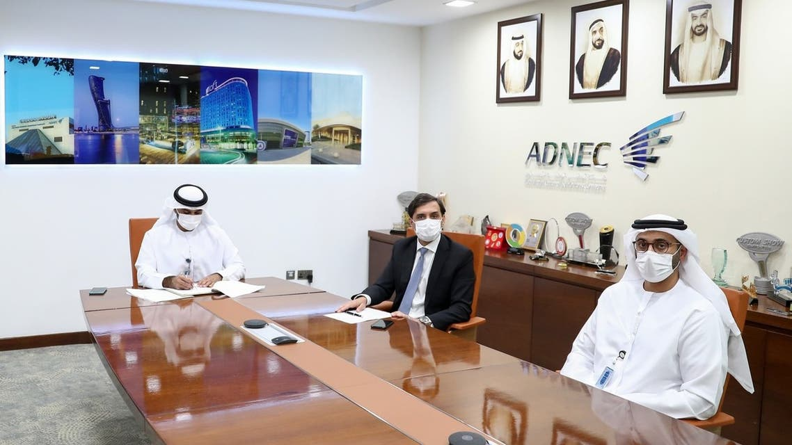 The UAE's Abu Dhabi National Exhibitions Company (ADNEC) on Sunday signed a memorandum of understanding (MoU) with Israel's exhibition center Expo Tel Aviv. (WAM)