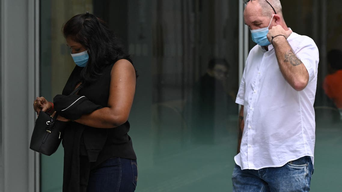 British national Nigel Skea arrives at the State Court in Singapore on February 15, 2021, where he faced charges of breaching the COVID-19 coronavirus stay home regulations. (File photo: AFP)