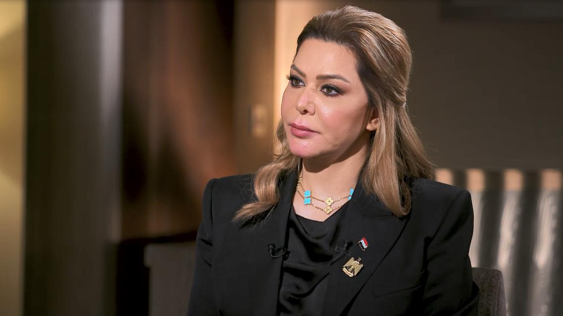 صورة من مقابلة رغد صدام حسين مع العربية