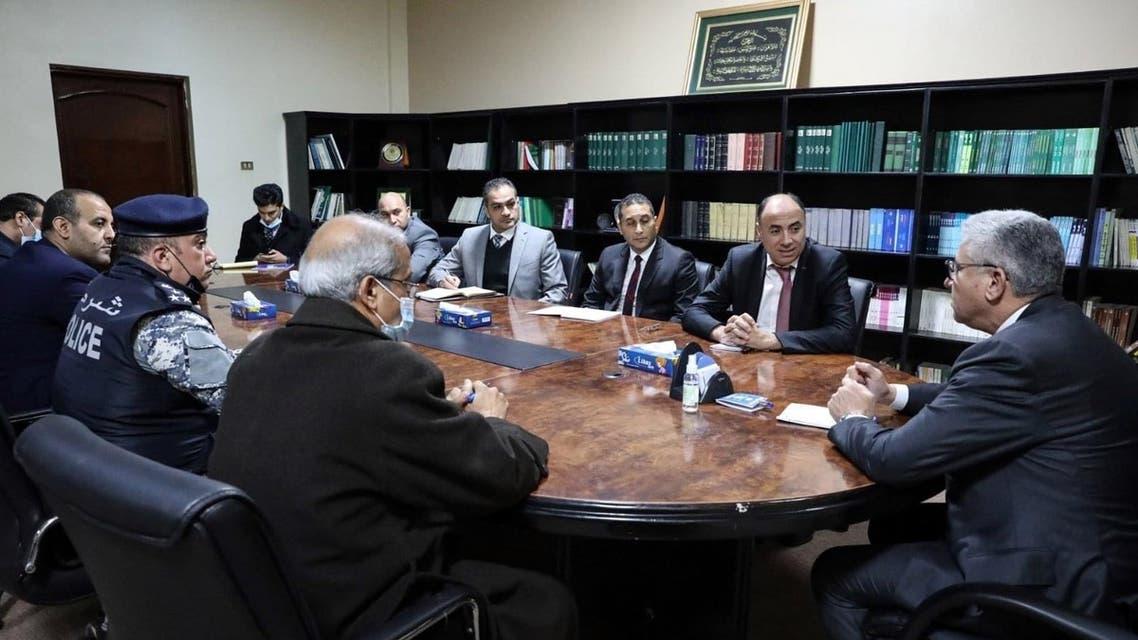 باشاغا مستقبلا الوفد المصري