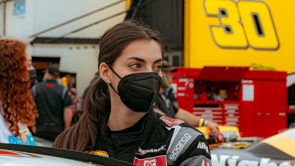 Toni Breidinger, first Arab-American NASCAR racecar driver. (Twitter)