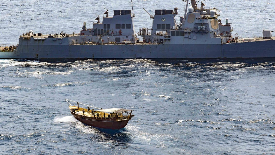 The United States has seized a shipment of weapons near Somalia