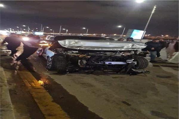 سيارة عمرو أديب بعد الحادثة