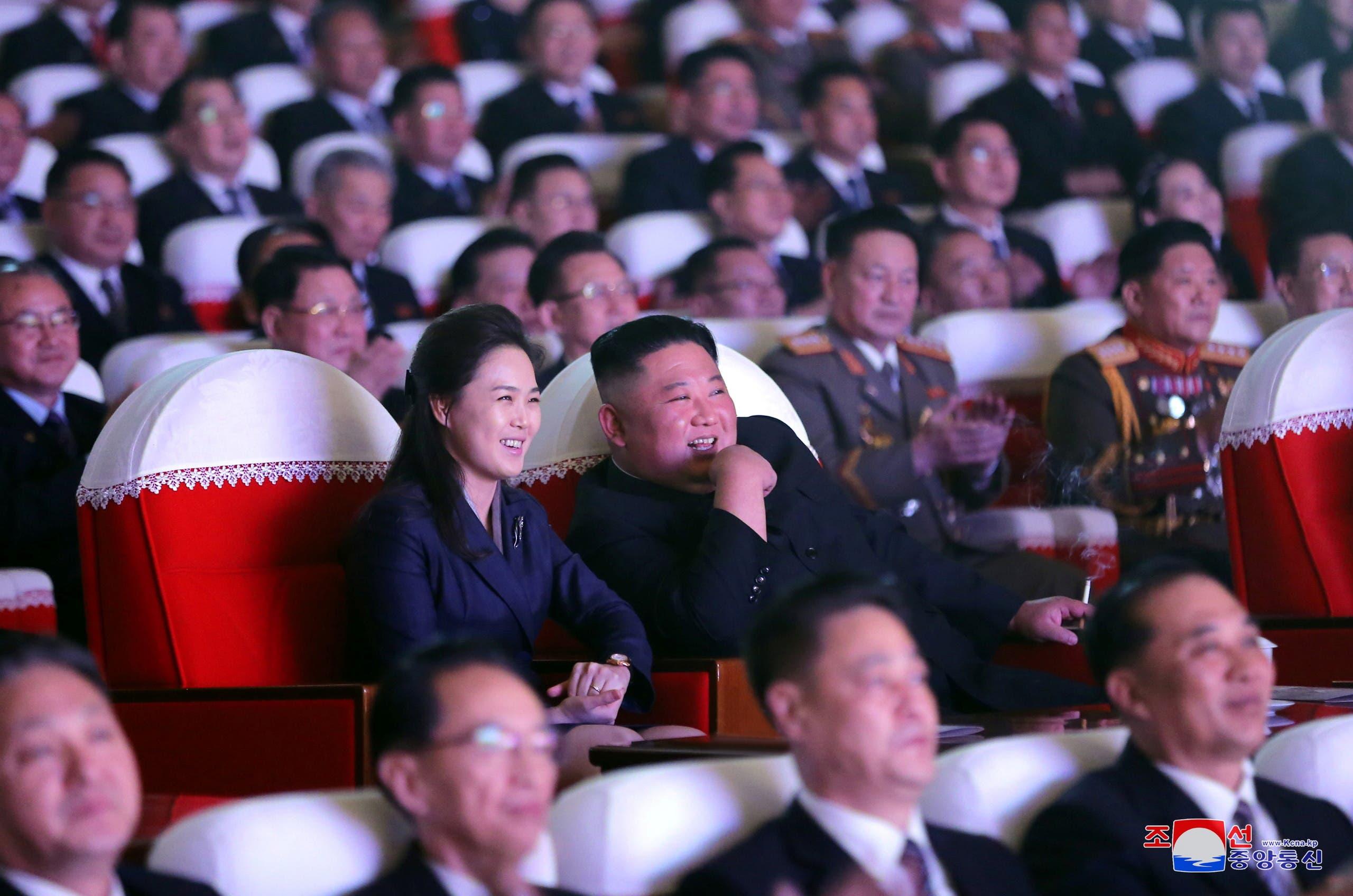 ري سول جو وكيم يونغ أون خلال الحفل