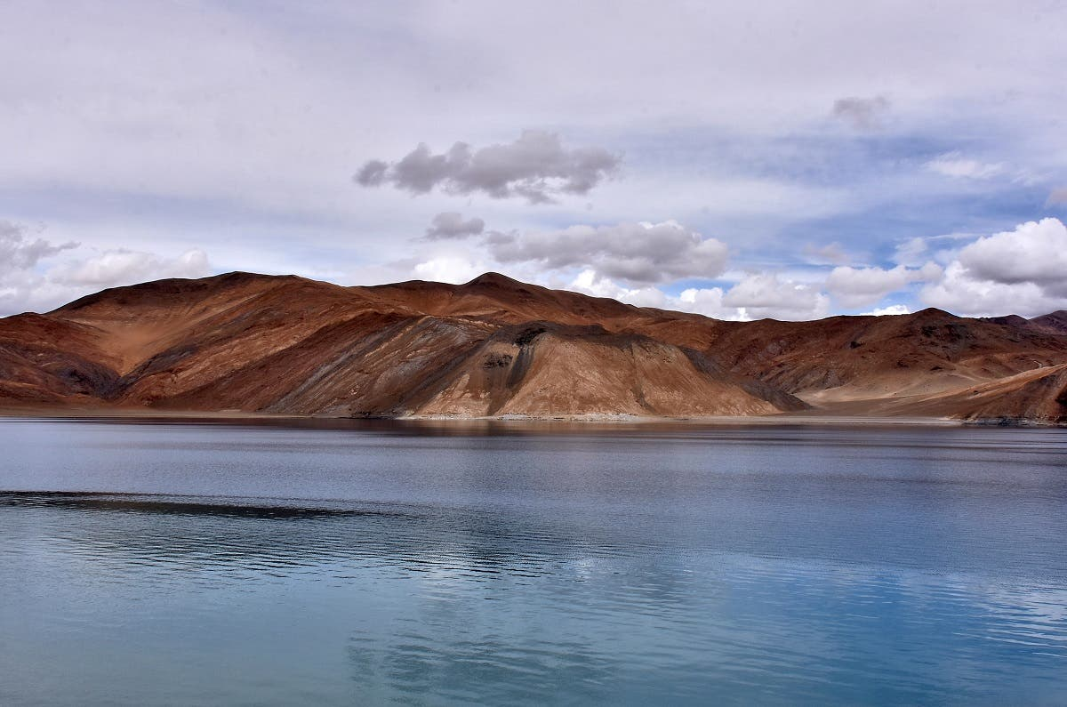 A view of Pangong Tso lake in Ladakh region. (Reuters)