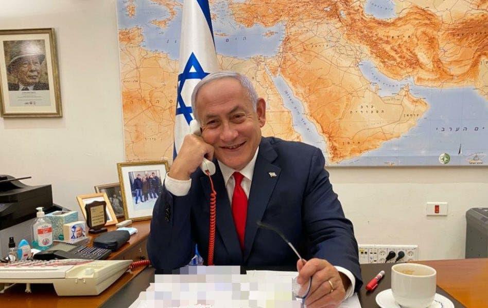 Israel's Netanyahu holds phone call with Biden. (Photo via @netanyahu/Twitter)