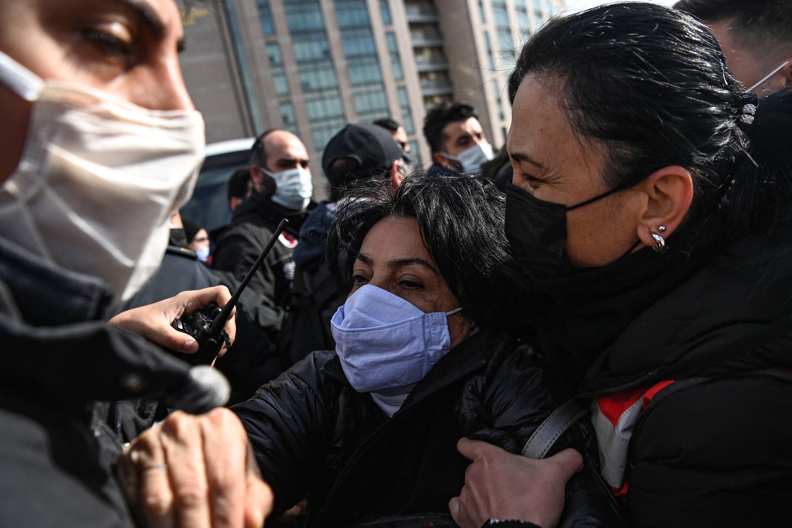 من التظاهرات الطلابية في تركيا
