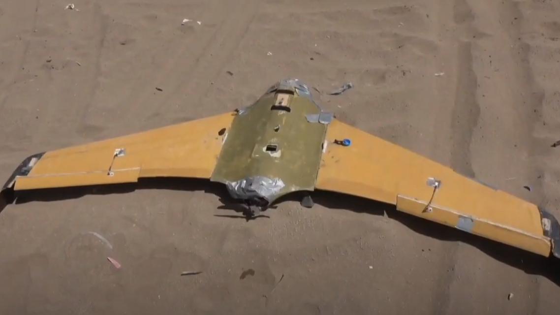طائرة مسيرة درون حوثية تم إسقاطها في الدريهمي في الحديدة غرب اليمن في 17 فبراير 2021 الحوثيية الحوثي