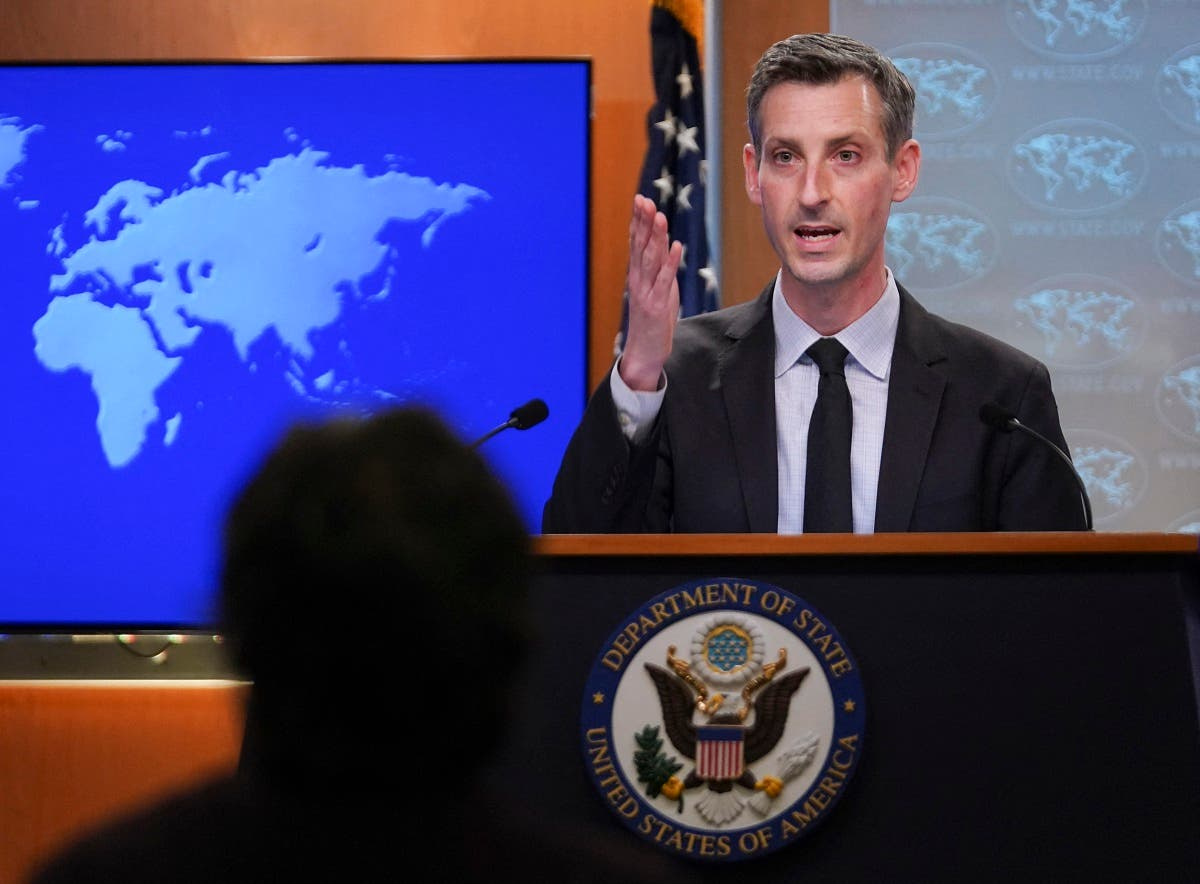 State Department Ned Price speaks to reporters in Washington, Feb. 17, 2021. (AFP)