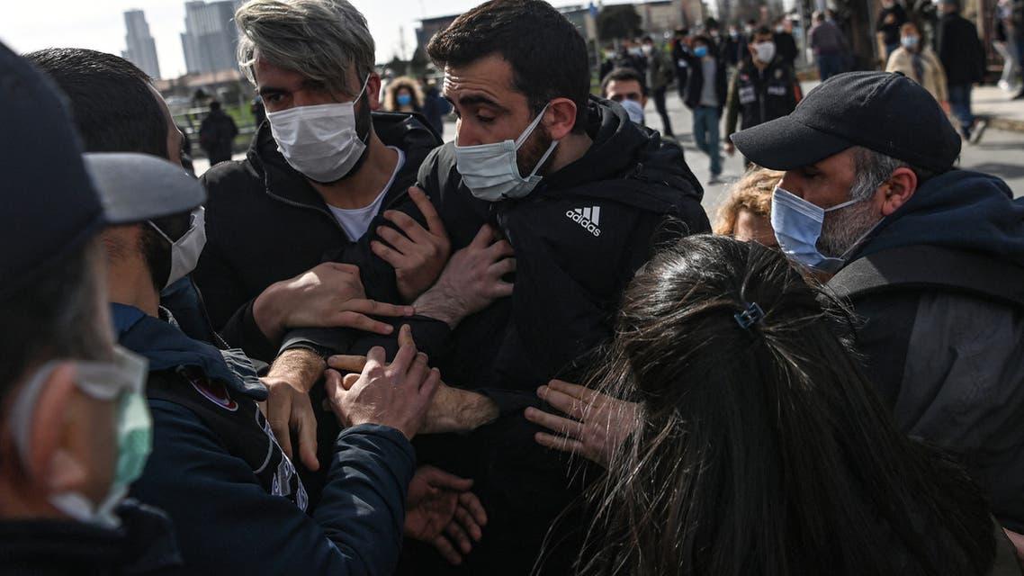 من التظاهرات الطلابية في تركيا (أرشيفية- فرانس برس)