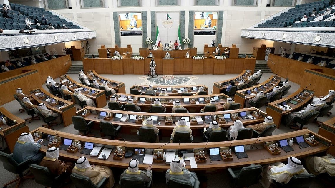 Kuwait's new Emir Nawaf al-Ahmad al-Sabah attends a parliament session, in Kuwait City, Kuwait October 20, 2020. (Reuters)
