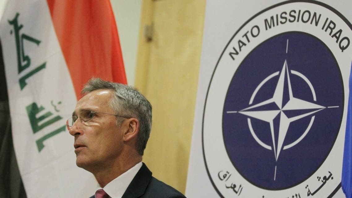 NATO Secretary General Jens Stoltenberg speaks on September 16, 2019 in the Iraqi capital Baghdad. (AFP)