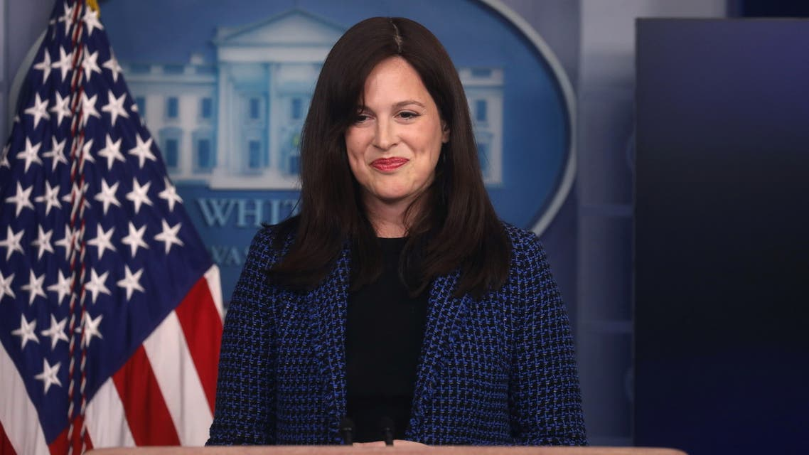 White House Deputy National Security Advisor for Cyber and Emerging Technology Anne Neuberger gives an update on the Biden administration's response to the SolarWinds hack during the daily briefing at the White House in Washington, D.C., U.S. February 17, 2021. REUTERS/Leah Millis