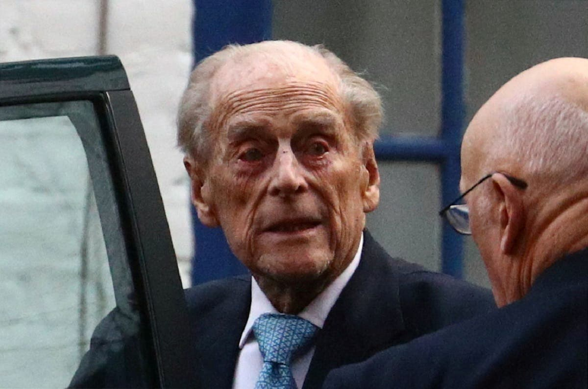 Britain's Prince Philip enters a car as he leaves the King Edward VII's Hospital in London, Britain, on December 24, 2019. (Reuters)