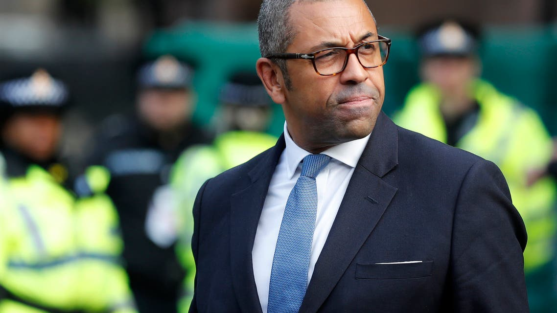 Conservative party chairman James Cleverly. (AP)